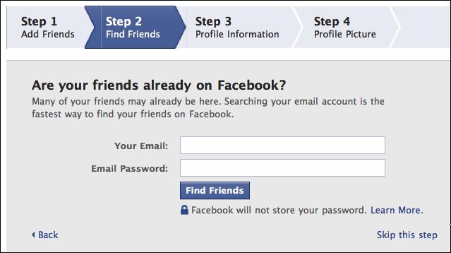 create new facebook profile