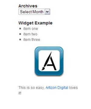WYSIWYG Widgets 4