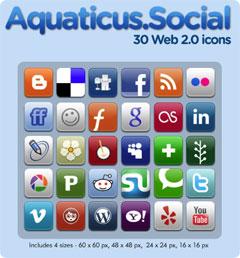 Aquaticus.Social Icons