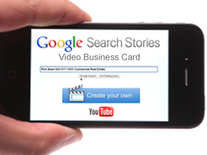 Ricks tips how to make a video business card using google search google search stories business card iphone reheart Images