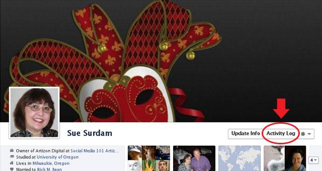 New Facebook Activity Log