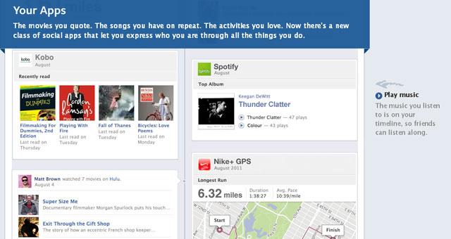 New Facebook Timeline Apps