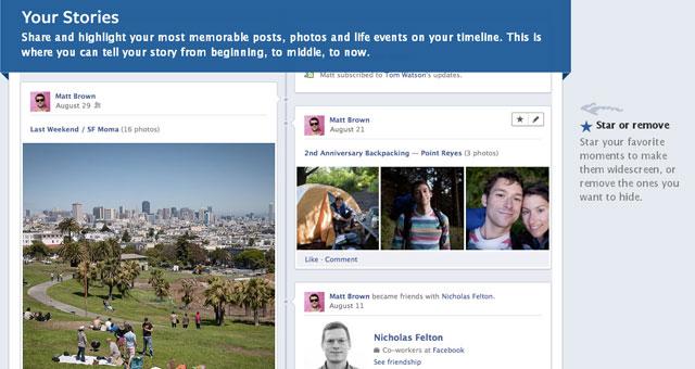 New Facebook Timeline Stories