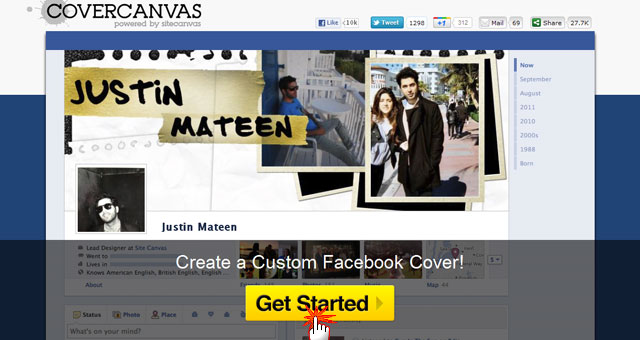 CoverCanvas Facebook Timeline Photo Maker - Get Started