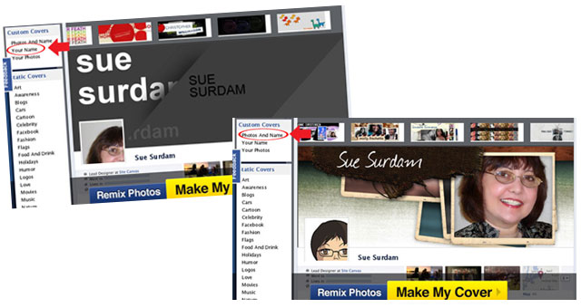 CoverCanvas Facebook Timeline Cover Maker - Options