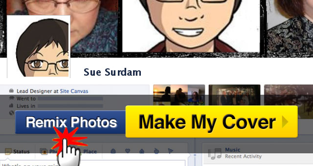 CoverCanvas Facebook Timeline Cover Maker - Remix Photos