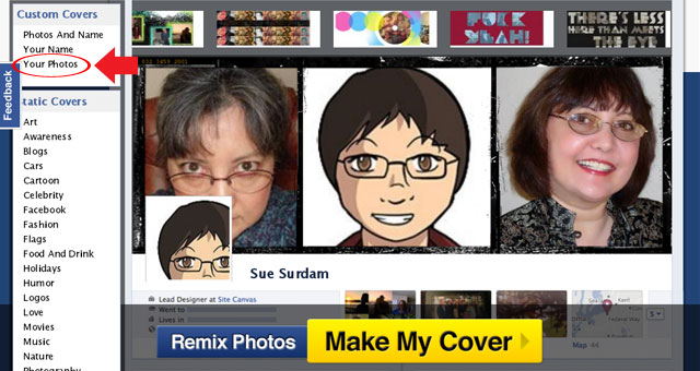 CoverCanvas Facebook Timeline Cover Photo Maker - Your Photo
