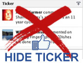 Rick's Tips: How to Hide the Facebook Ticker New Option