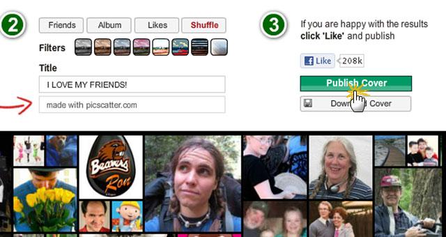 Pic Scatter Facebook Timeline Cover Maker Publish