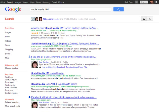 Social-Media-101-Google-Search-Your-World-On
