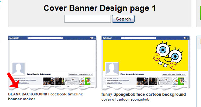 Timeline Cover Banner Facebook Choose Blank Cover Design