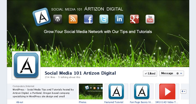 10 TimelineCover Banner Facebook Artizon Timeline with New Cover