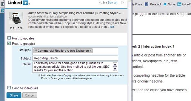 6 LinkedIn Sharing Bookmarklet Add Description And Details