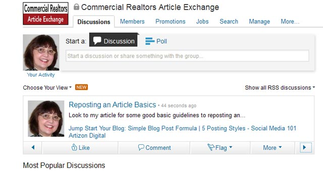 7 LinkedIn Sharing Bookmarklet Posted on LinkedIn