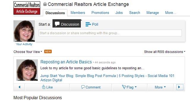 7 LinkedIn Sharing Bookmarklet Posted on LinkedIn