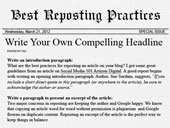 Guide to Reposting an Article on Your Blog