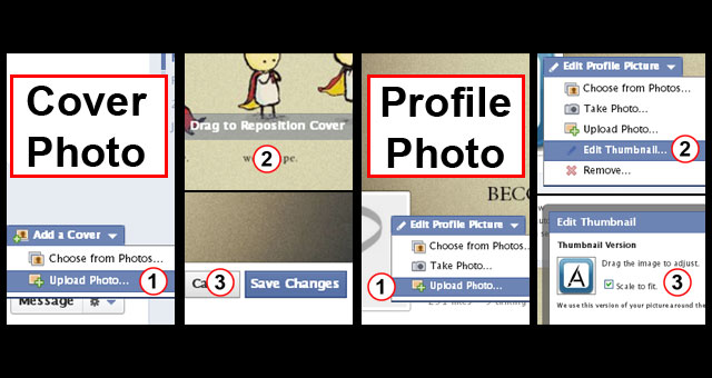 Facebook Page Timeline Change Cover Photo and Profile Photo