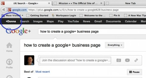 1 Access Google+