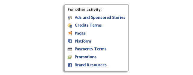 Facebook Activity Links