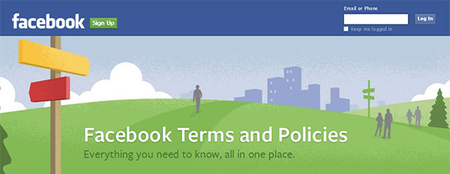 Facebook Terms and Policies Hub Header