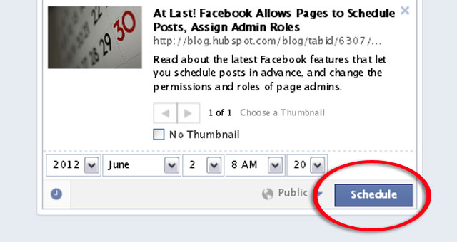 3 Schedule a Post From Facebook Page Timeline