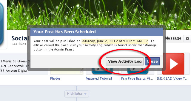4 Schedule a Post From Facebook Page Timeline