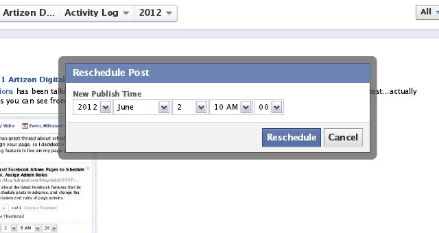 6 Schedule a Post From Facebook Page Timeline