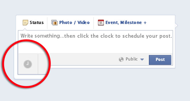 1 Schedule a Post From Facebook Page Timeline