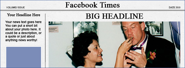 Facebook Timeline Cover Newspaper Template  Big Headline