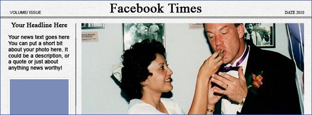 Facebook Timeline Cover Newspaper Template