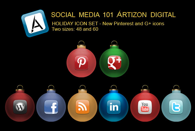 2012 Free Social Media Holiday Icons