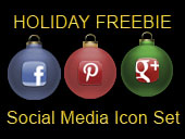 Free Social Media Holiday Icon Set with New Pinterest and Google+ Icons