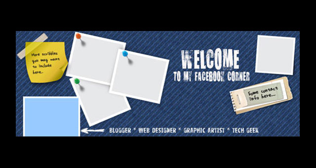 10 More Free PSD Templates - Update Your Facebook Cover Photo