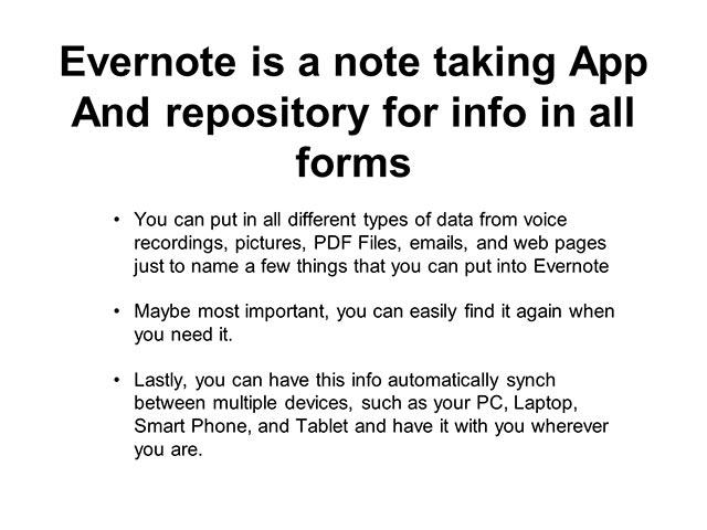 Evernote Basics 2