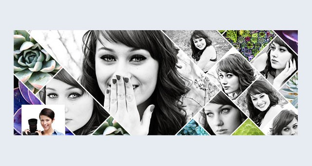 jd facebook timeline cover photo psd template - Free Collage Templates